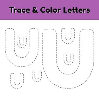 Lettre de trace pour la maternelle et les enfants d'âge préscolaire.