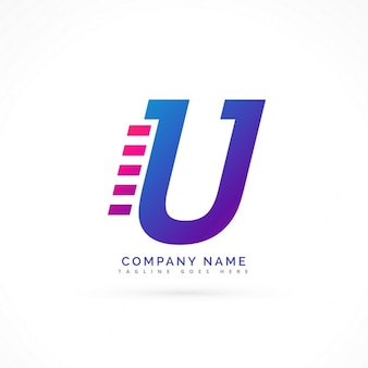 Lettre u accélérer la conception de logo