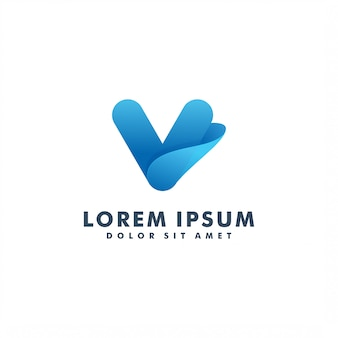 Lettre v logo design icône vecteur