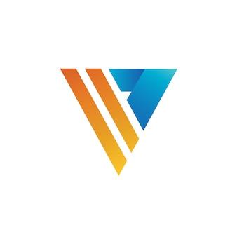 Lettre v logo vector