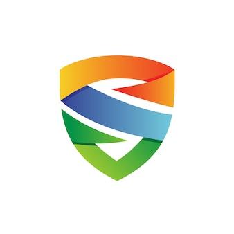 Lettre, vecteur, bouclier, logo