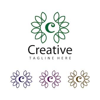Lettre c vecteur de conception de modèle de logo créatif