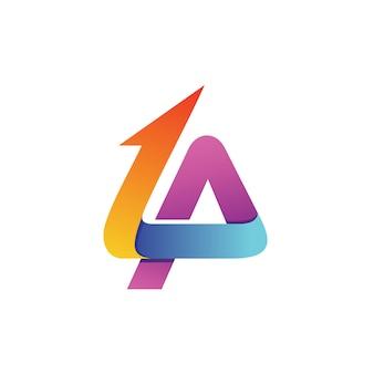Lettre l et un vecteur logo