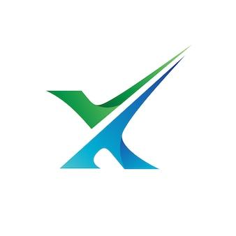 Lettre x logo vecteur