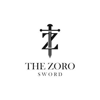 Lettre z logo épée
