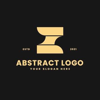 Lettre z luxueux bloc géométrique d'or concept logo vector icon illustration