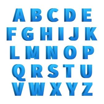 Lettres 3d bleu glacé