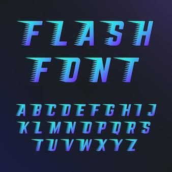 Lettres abc avec effets de lignes de vitesse.