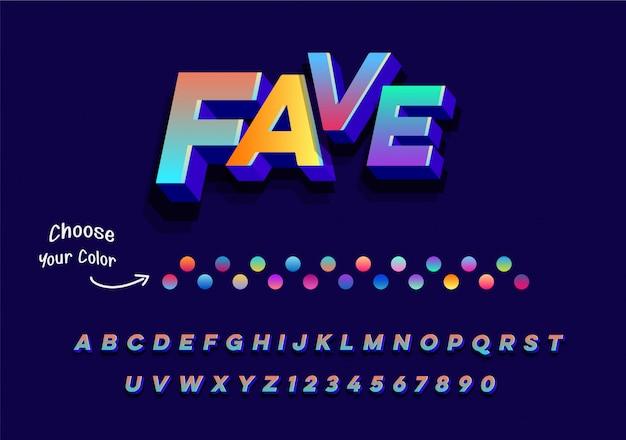 Lettres de l'alphabet élégant