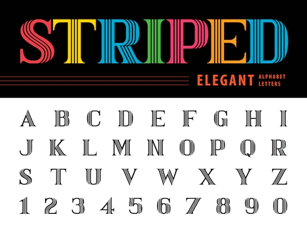 Lettres alphabet élégantes