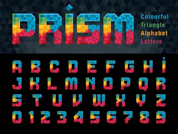 Lettres alphabet géométrique