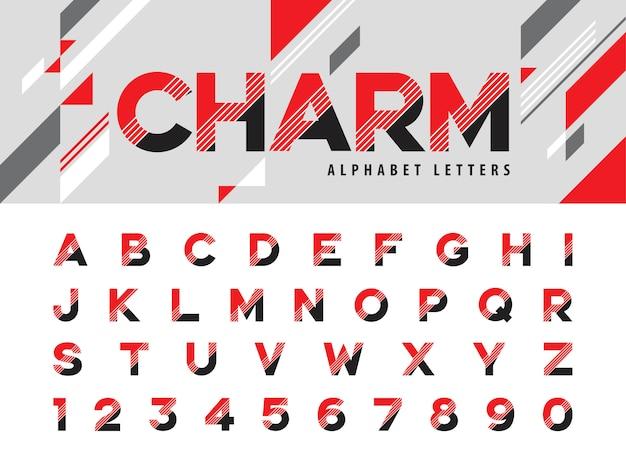 Lettres de l'alphabet moderne