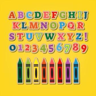 Lettres autocollants colorés