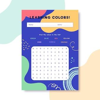 Lettres de couleurs enfantines colorées