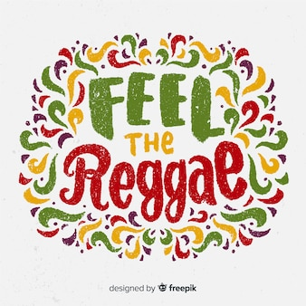 Lettres fond reggae