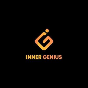 Lettres i et g combinées dans un modèle de logo de style minimaliste