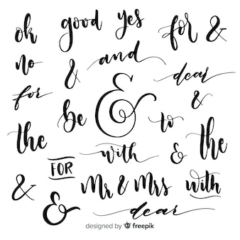 Lettres de mariage et mots clés