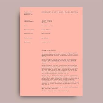 Lettres médicales de nécessité simple monocolor