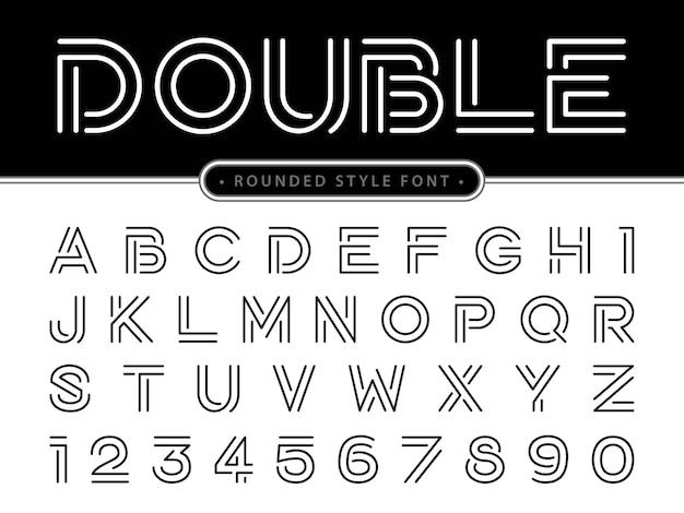 Lettres modernes de l'alphabet