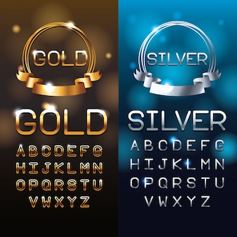 Lettres d'or et d'argent