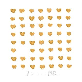 Lettres d'or coeurs vous êtes un sur un million