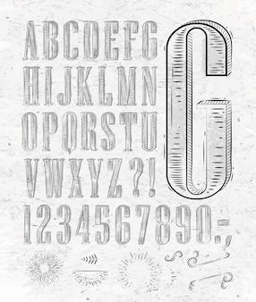 Lettres de police vintage