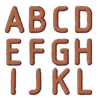 Lettres sculptées par la terre