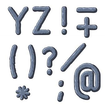 Lettres taillées dans la pierre