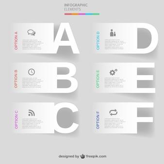 Lettres de vecteur ingographic les options modèle