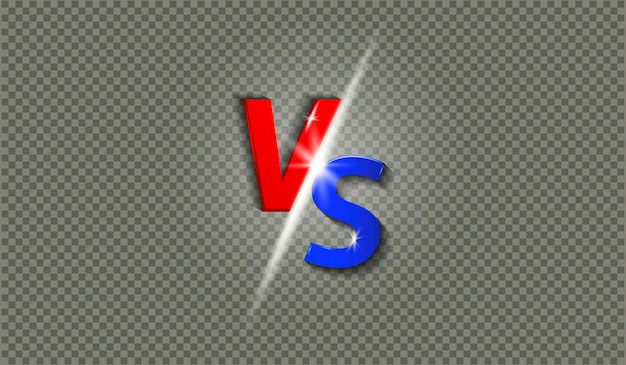 Lettres vs avec illustration d'effet brillant