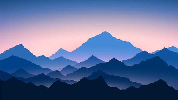 Lever du soleil dans les montagnes. paysage de montagnes de couleur. randonnée - vue du matin