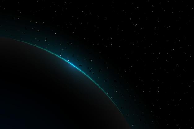Lever de soleil de la planète terre. ambiance globe horizon