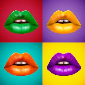 Lèvres de couleurs vives