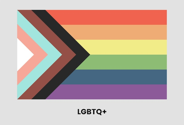 Lgbtq plus drapeau design arc-en-ciel rectangle lesbienne gay bisexuel transgenre