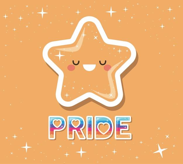 Lgtbi pride et kawaii star