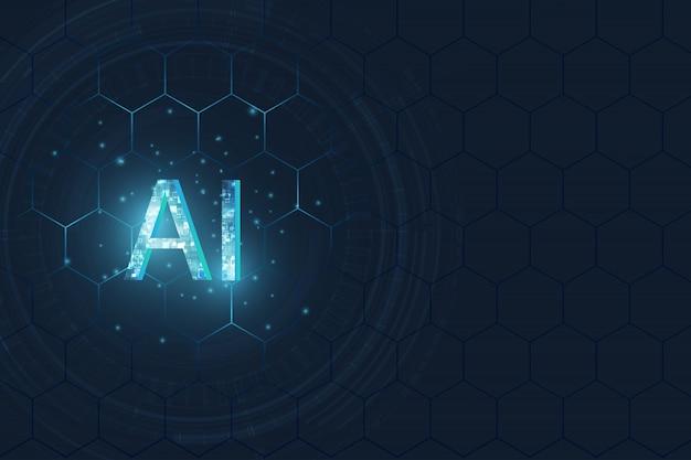 Libellé ai (intelligence artificielle) avec la conception du circuit.