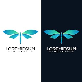 Libellule moderne avec deux versions