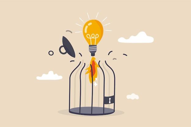 Libérez la créativité ou libérez une idée d'entreprise pour vous développer au-delà des limites.