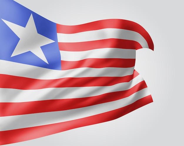 Libéria, vecteur 3d flag isolé sur fond blanc