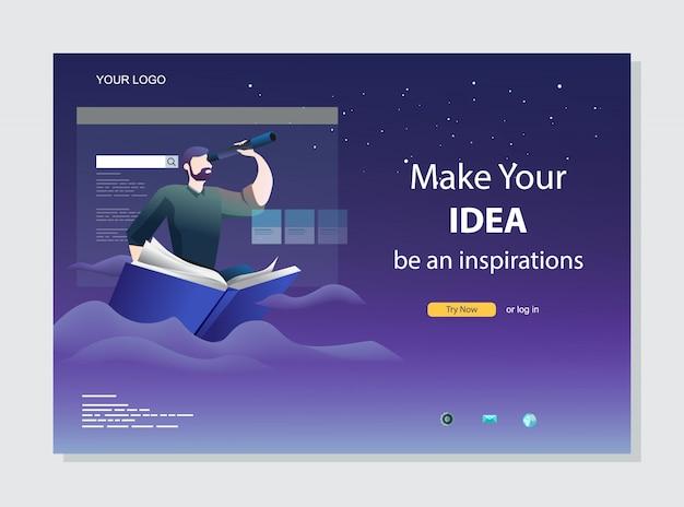Librairie en ligne. concept de page de destination de commerce électronique