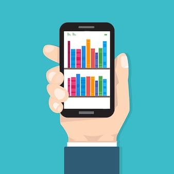 Librairie numérique en ligne, bibliothèque, concept de lecture électronique. illustration dans un style plat.