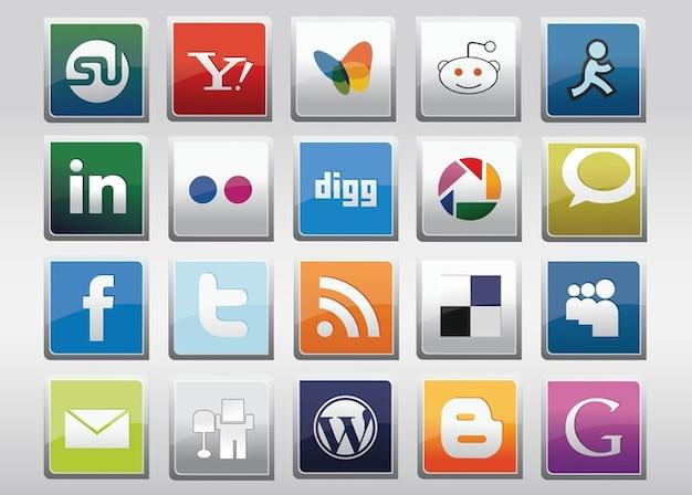 Libre icônes vectorielles médias sociaux