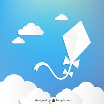 Libre kite vecteur