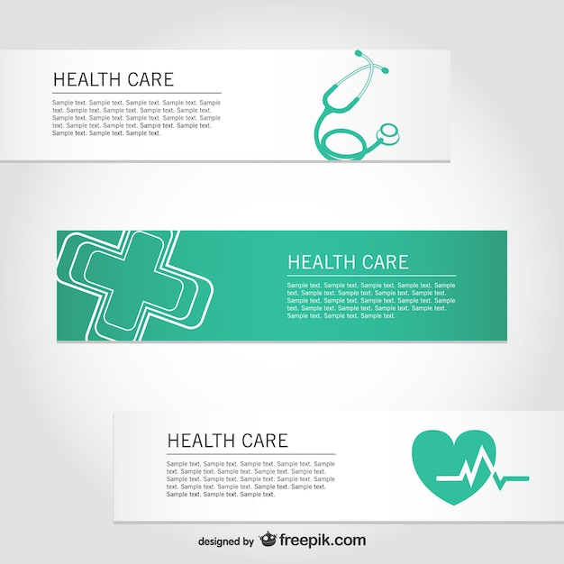 Libre santé vecteur bannières