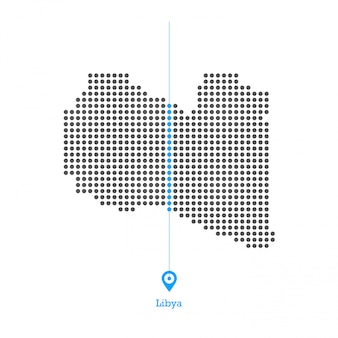 Libye a taché le vecteur de conception de carte