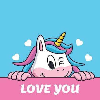 Licorne dit je t'aime