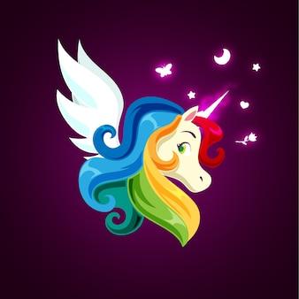 Licorne magique arc-en-ciel