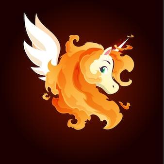 Licorne magique du feu