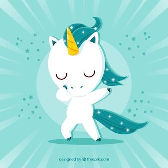Licorne mignon, faire, dabbing, mouvement