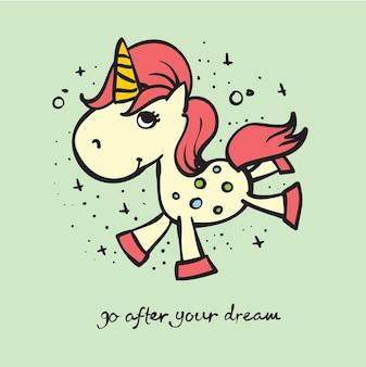 Licorne mignonne magique définie illustration vectorielle pour l'impression de t-shirt de conception de carte de voeux